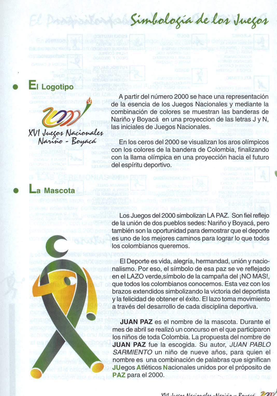 Simbología Juegos Nacionales 2000