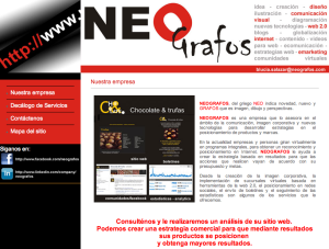 NEOgrafos - Estrategias en el posicionamiento de productos y marcas a través de Internet