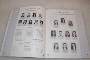Diagramación - Revista Diez Jóvenes Sobresalientes Ejecutivos 2001 - Blucia salazar V